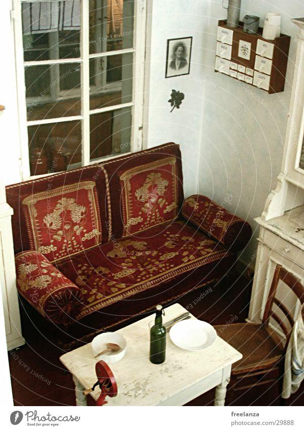 Window Table Retro Chair Sofa Bottle Historic