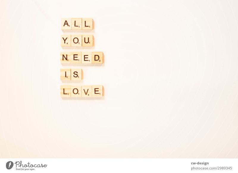 all you need is love Lifestyle Style Joy Happy Leisure and hobbies Valentine's Day Art Sign Characters Signs and labeling To hold on To enjoy Communicate Love