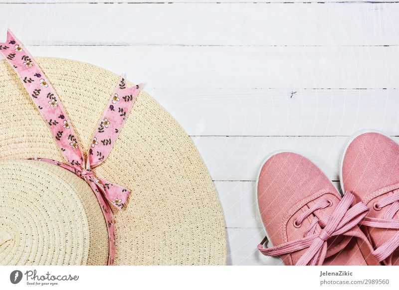 Women's summer shoes and hat for beach holidays Lifestyle Style Design Joy Relaxation Leisure and hobbies Vacation & Travel Tourism Freedom Summer