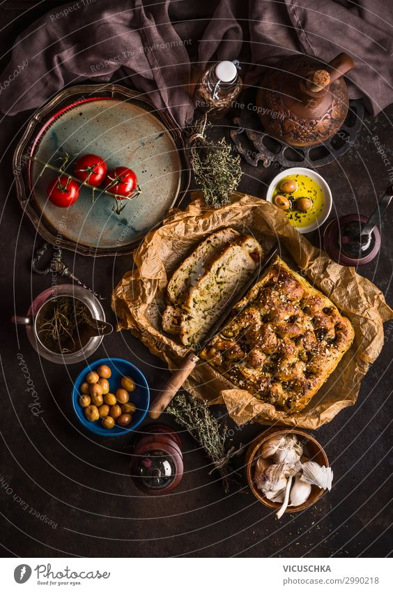 Food photograph Eating Background picture Style Design Nutrition Table Kitchen Baked goods Tradition Cooking Bread Crockery Still Life Snack