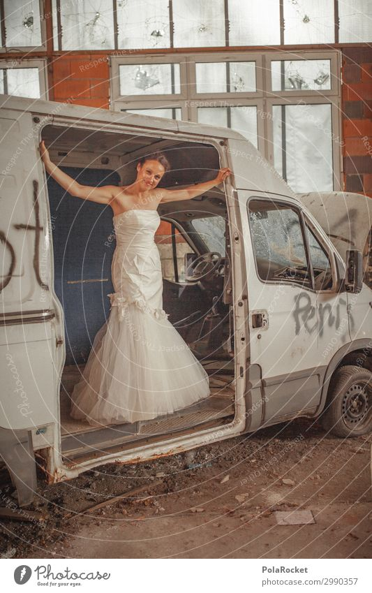 #A# Wedding car made ready Art Work of art Esthetic Wedding anniversary Wedding ceremony Wedding party Bride Wedding dress Bridal veil Ceremony Car wedding car