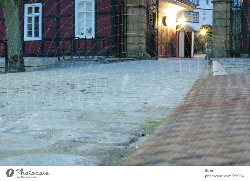 barrack Long exposure Evening Cobblestones Red Entrance Historic Gate Rust