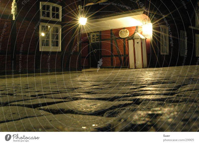awake cabin under a good star... Long exposure Cobblestones Night Preservation of historic sites Historic guardhouse Castle