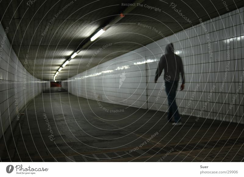 a course into the unknown Tunnel Ceiling light Night Man Hooded (clothing) Tile