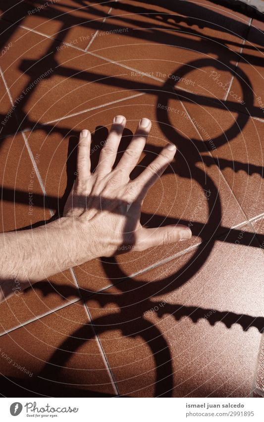 man hand shadow silhouette on the ground Human being Hand Street Skin Arm Fingers Symbols and metaphors Conceptual design Minimalistic Gesture Palm of the hand