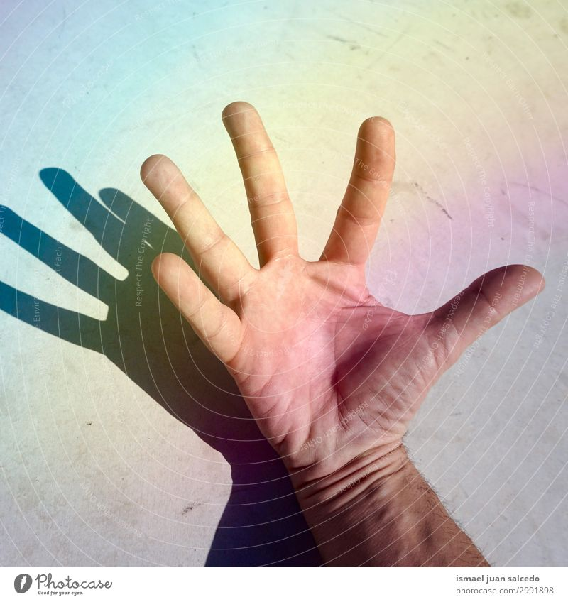 man hand shadow silhoette on the wall Human being Hand Street Skin Arm Fingers Symbols and metaphors Conceptual design Minimalistic Gesture Palm of the hand