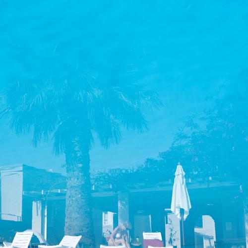 hotel pool Relaxation Calm Swimming pool Swimming & Bathing Vacation & Travel Tourism Trip Sunbathing Feminine Life 1 Human being Beautiful weather Tree