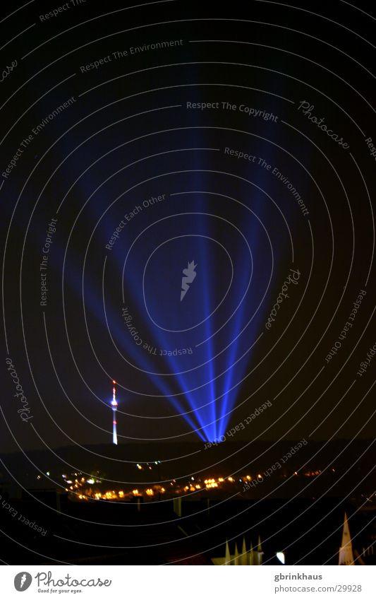Dark Disco Night sky Advertising Obscure Berlin TV Tower Stuttgart