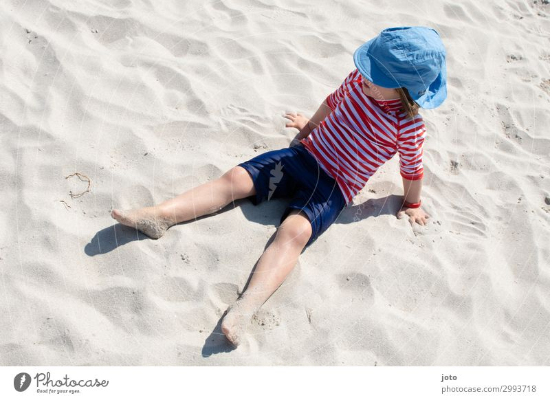 Vacation & Travel Summer Ocean Far-off places Beach Playing Freedom Trip Infancy Sit Adventure To enjoy Summer vacation Baltic Sea Sunbathing Maritime