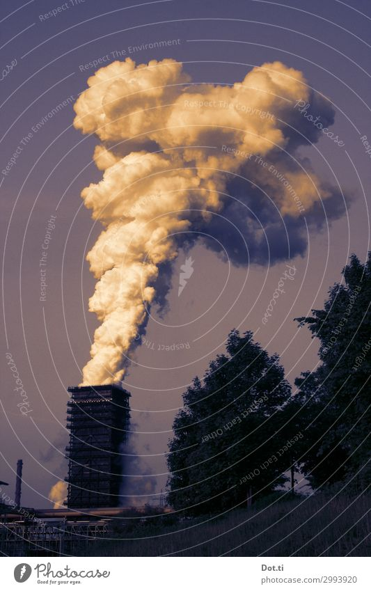 Smoke signals and miracles Industry Environment Sky Climate Climate change Deserted Industrial plant Chimney Surrealism Environmental pollution Heavy industry