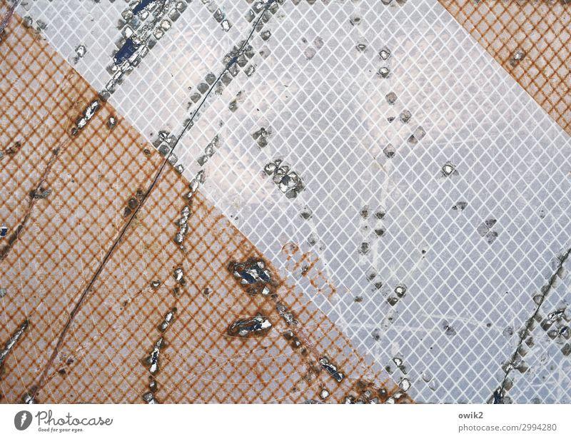 search for clues Metal Plastic Road sign Old Destruction Bleached Derelict Ravages of time Tracks Scratch mark Line Parallel Colour photo Exterior shot Detail