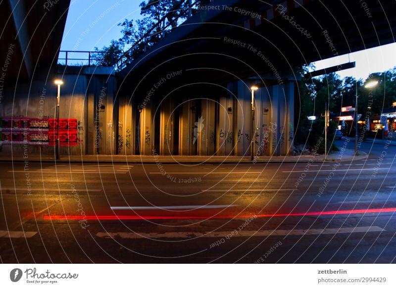 under the bridge Evening Car Movement Indicator light Bridge Multicoloured Dynamics Fantasy Glittering Art Light Visual spectacle Light painting Light show Line