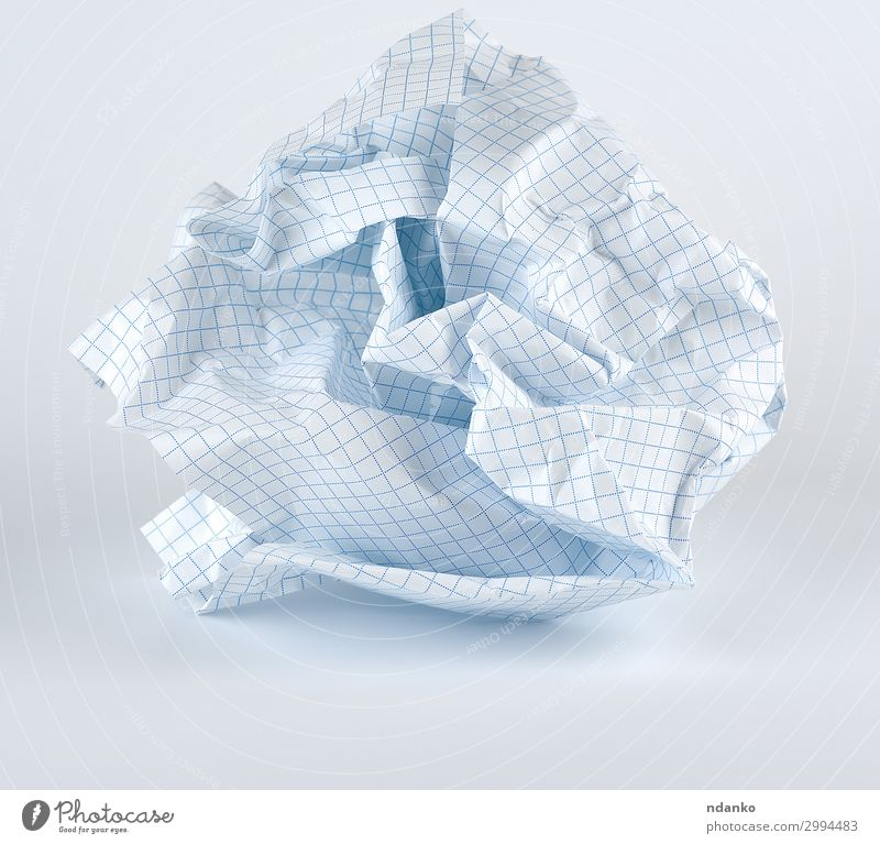 crumpled blank white sheet of paper into the cell Office Paper Piece of paper Sphere Study White Idea ball background wrinkled clipping page Crushed Consistency