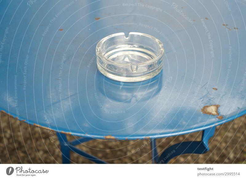 ashtray Ashtray Table Blue Metal Rust Old Glass Smoking
