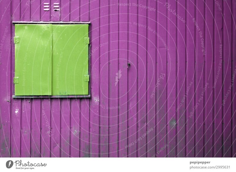 Green House (Residential Structure) Window Wall (building) Building Wall (barrier) Facade Living or residing Line Metal Construction site Stripe Violet Hut