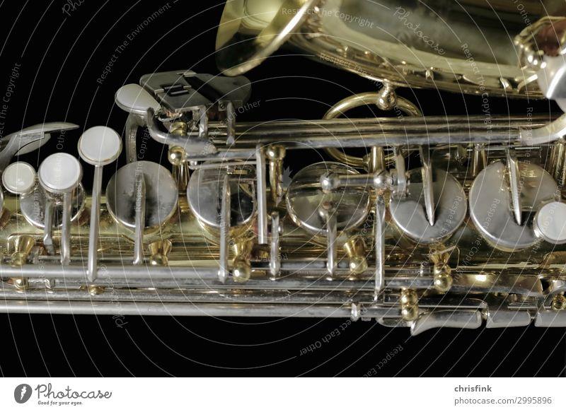 sax Art Music Stage Orchestra Esthetic Elegant Passion Sex Sexuality Saxophone Tone Flap Wind instrument Tin Brass Colour photo Subdued colour Studio shot