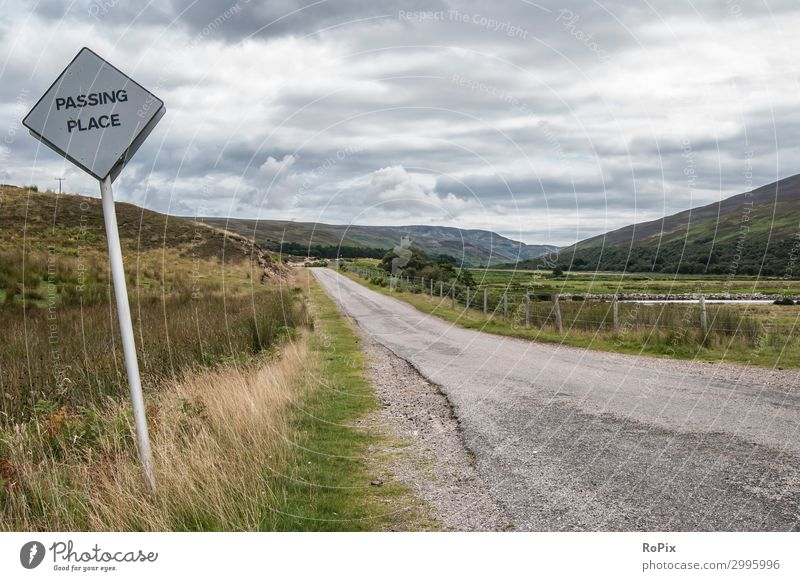 Single track road in thescottish highlands. Lifestyle Vacation & Travel Tourism Trip Adventure Freedom Sightseeing Summer Environment Nature Landscape Earth