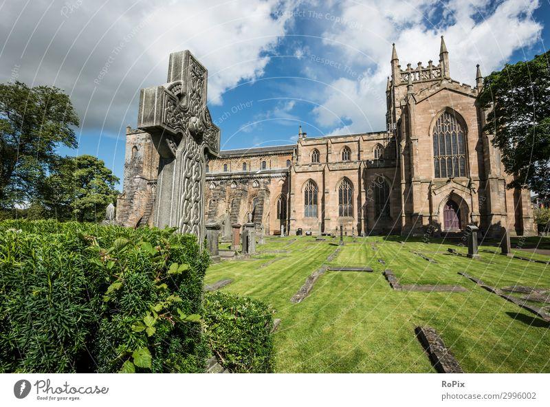 Dunfermline Abbey Design Vacation & Travel Tourism Trip Sightseeing City trip Art Museum Sculpture Architecture Nature Landscape Sky Clouds Garden Park Scotland