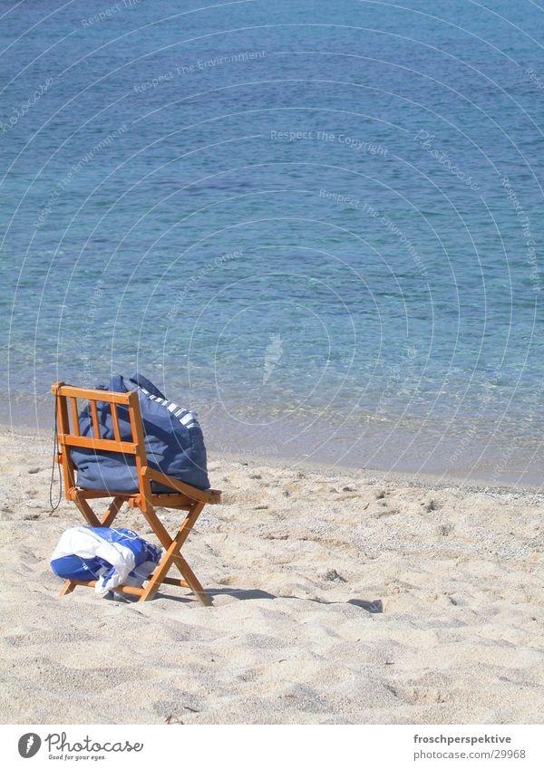 unfolded Ocean Sunbathing Loneliness Leisure and hobbies folding chair. beach beach towel Sit Empty