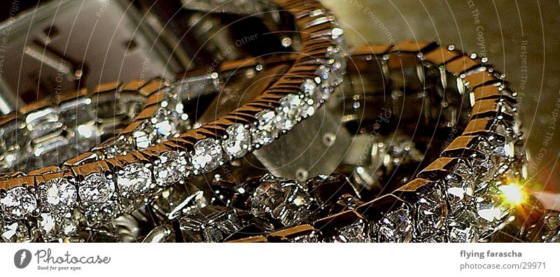 precious time Jewellery Precious stone Glittering Time Light Silver