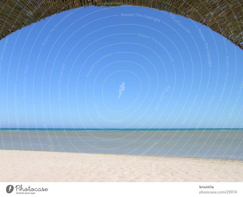 on the beach Egypt Beach Ocean Horizon Beach chair Sand