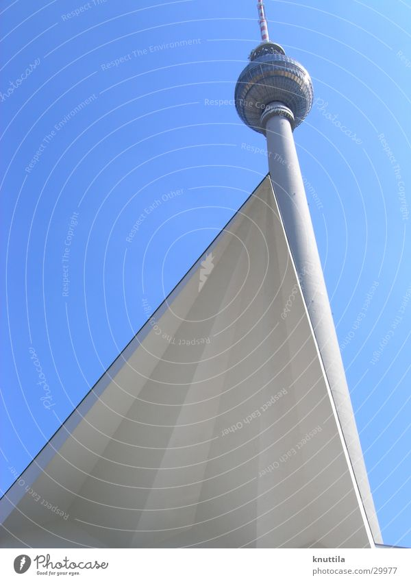 Berlin television tower with a difference Alexanderplatz Architecture alex Berlin TV Tower Modern Perspective