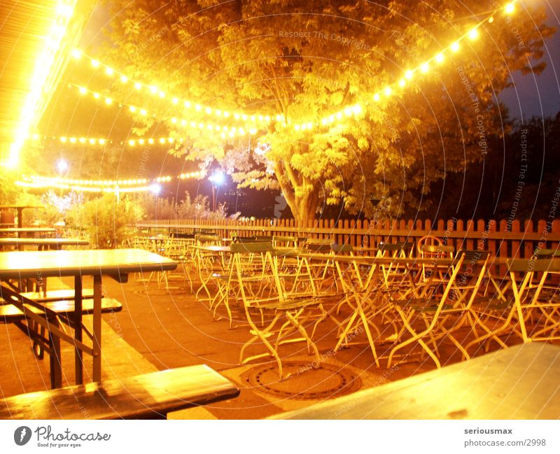 Beer Garden Swimming Pool Swimming pool Beer garden Table Chair Night Outdoor festival Light Electric bulb Club