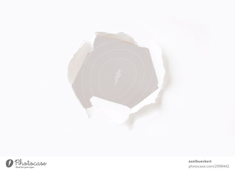 hole in paper wall Design Paper Piece of paper White Creativity Advertising Hole Breach Copy Space Burst Blank Torn Open Destroy Gap Opening Background picture