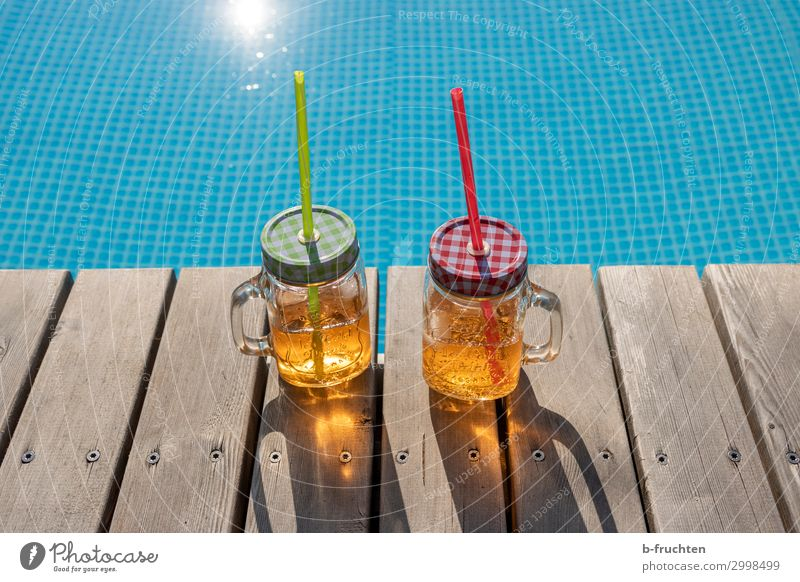 Summer Drinks Beverage Cold drink Lemonade Juice Alcoholic drinks Longdrink Cocktail Glass Relaxation Swimming pool Vacation & Travel Beach bar To enjoy