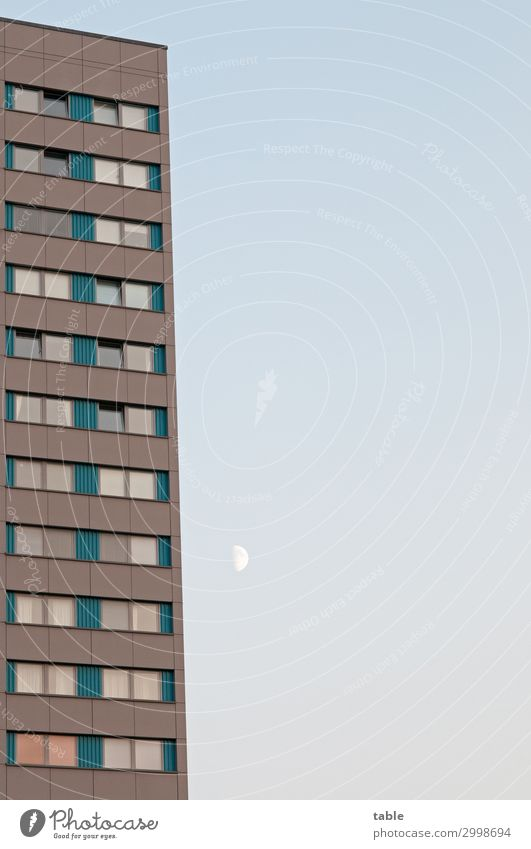 taking . . . Luxury Flat (apartment) House (Residential Structure) Environment Sky Cloudless sky Moon Town Capital city Populated Manmade structures Building