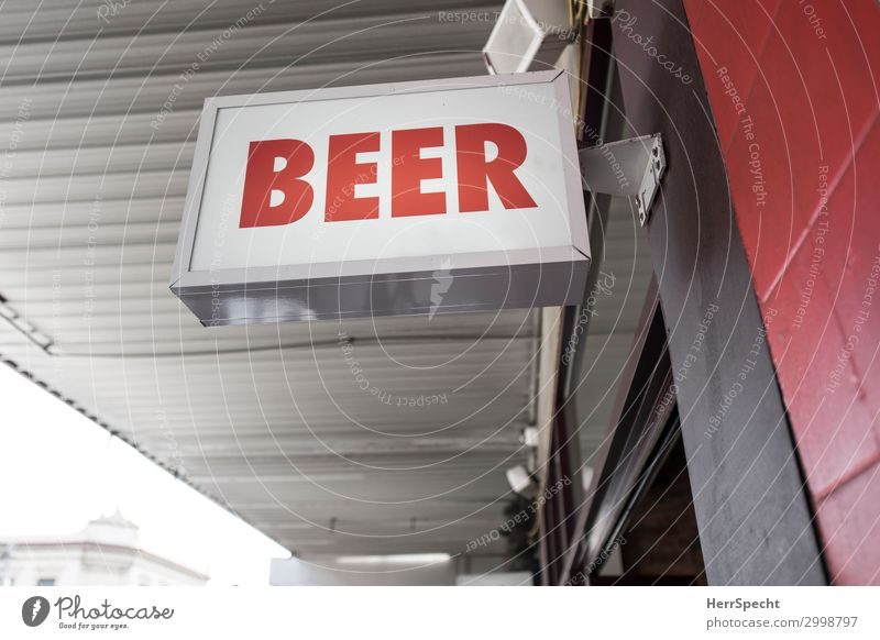 ... let's drink it here! Town Wall (barrier) Wall (building) Roof Characters Signs and labeling Authentic Gray Red Beer Roadhouse English Pub Neon sign