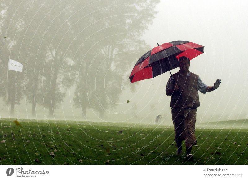 Hardcore Golf Golfer Umbrella golfing putting fairway Rain Golf course