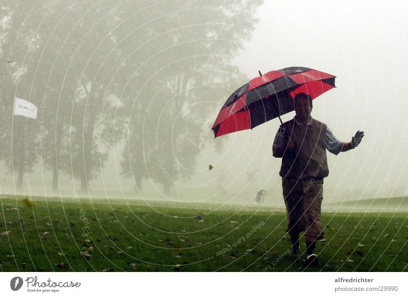 Rain Umbrella Golf Golf course Golfer