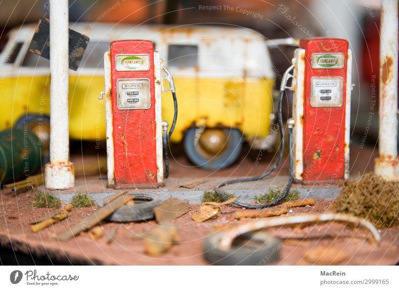 Red Yellow Small Car Metal Transport Retro Broken Idea Historic Sign Toys Passion Vehicle Nostalgia Identity