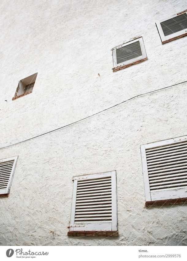 Town House (Residential Structure) Window Architecture Wall (building) Building Wall (barrier) Gray Design Perspective Tall Change Simple Protection Safety