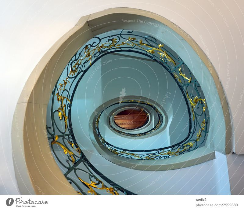 spiral House (Residential Structure) Building Architecture Stairs Winding staircase Round Yellow Red Turquoise Bizarre Design Banister Quirky Rococo Upward