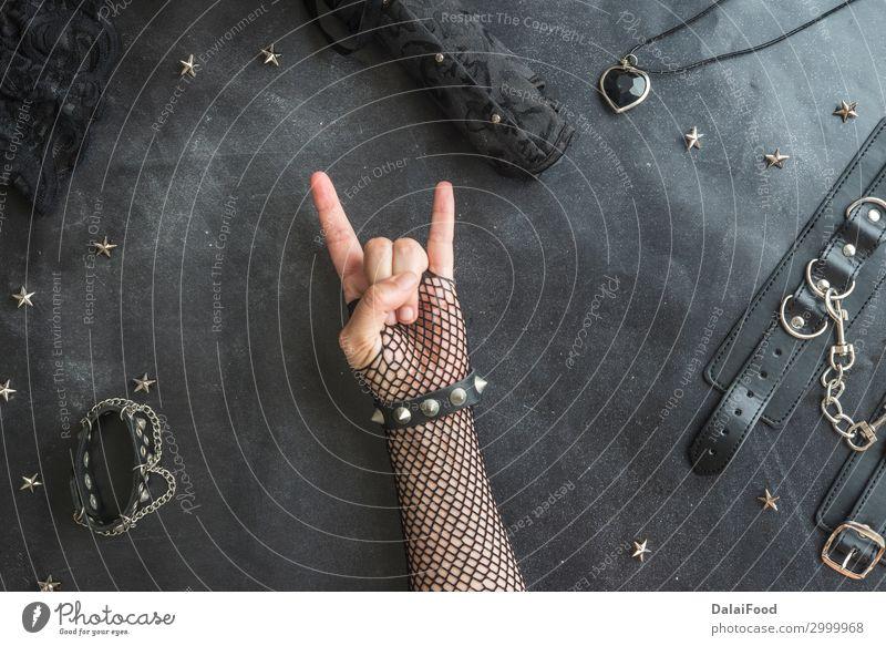 Concept heavy metal gotik festical Style Design Music Hand Art Concert Band Musician Guitar Rock Tattoo Metal Steel Heart Old Retro Black White background