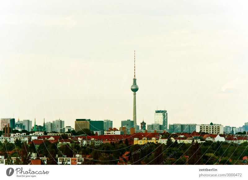Television tower on the horizon Alexanderplatz Vantage point Berlin Germany Far-off places Berlin TV Tower City Sky Heaven Horizon Deserted Potsdamer Platz
