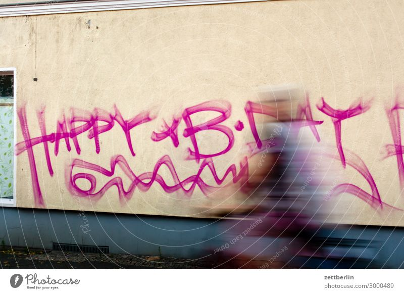 happy b-day Happy Birthday Congratulations Birthday wish Desire House (Residential Structure) Wall (building) Wall (barrier) Graffiti Tagging (graffiti)