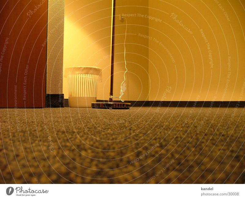 On the ground of facts Carpet Lamp Trash container Flat (apartment) Room Yellow Light Floor covering