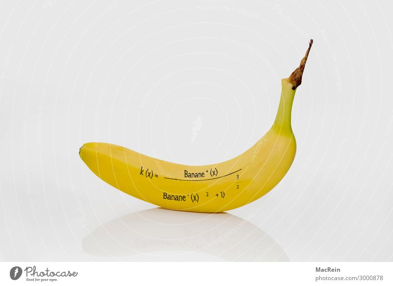 banana formula Food Fruit Yellow Banana Formula Copy Space Nutrional supplement Warped Calculation Deserted