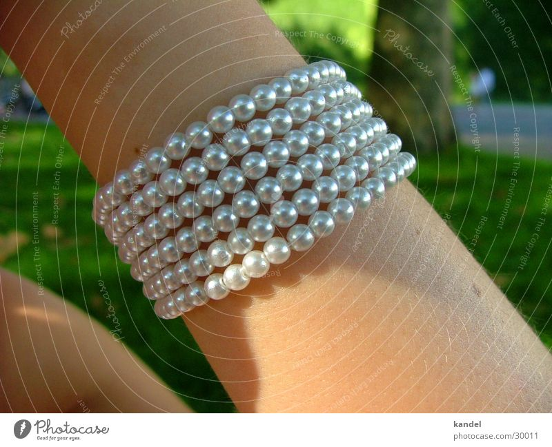 The band on the arm Bracelet Jewellery Woman Craft (trade) Arm Pearl Skin Silver