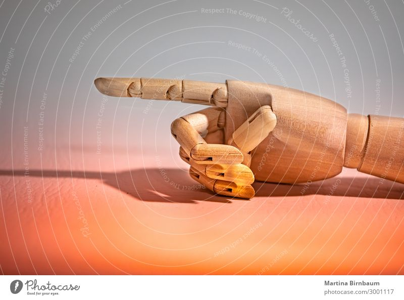 Turn to the left side, mannequin hand on colorful background Design Body Human being Man Adults Hand Fingers Doll Robot Wood Love White Idea touch isolated
