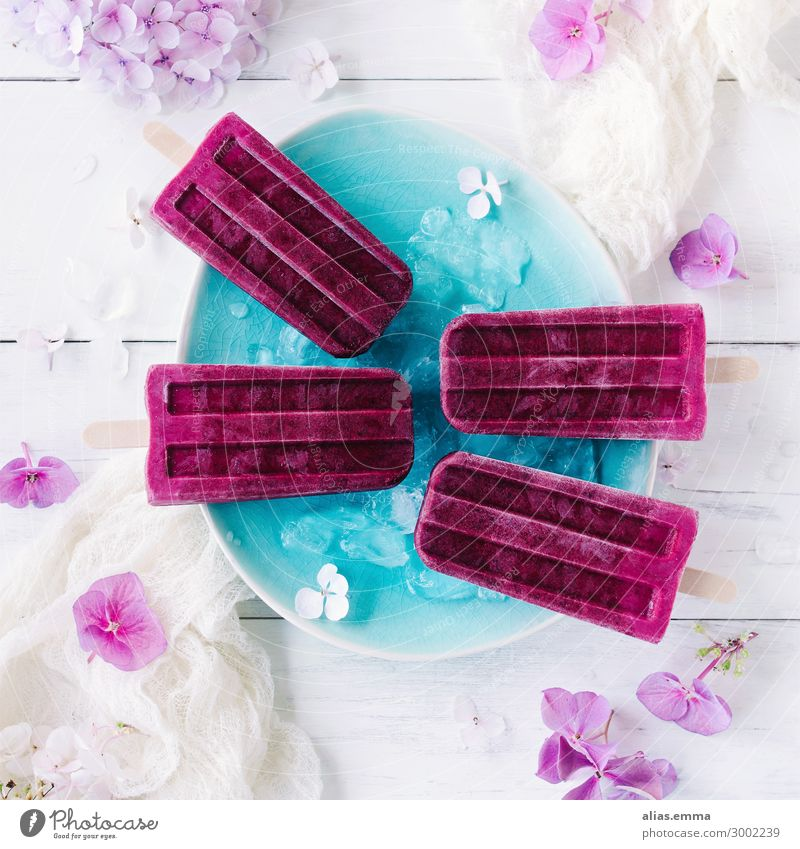 Blackberry Ombre Ice on a stick Blackberry Ombre Ice on a stick ice on a stick Ice cream ombre wooden handle Cold Frozen Summer Refreshment Violet Pink Yoghurt
