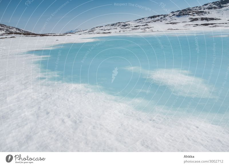 Icy lagoon Nature Climate change Beautiful weather Ice Frost Snow Scandinavia Inspiration Risk Transience Insurance Trust Attachment Background picture