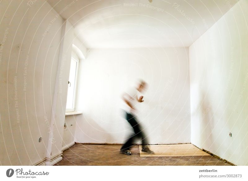 search Old building Period apartment Motion blur Hallway Wooden floor Window Floor covering Man Wall (barrier) Human being Town house (City: Block of flats)