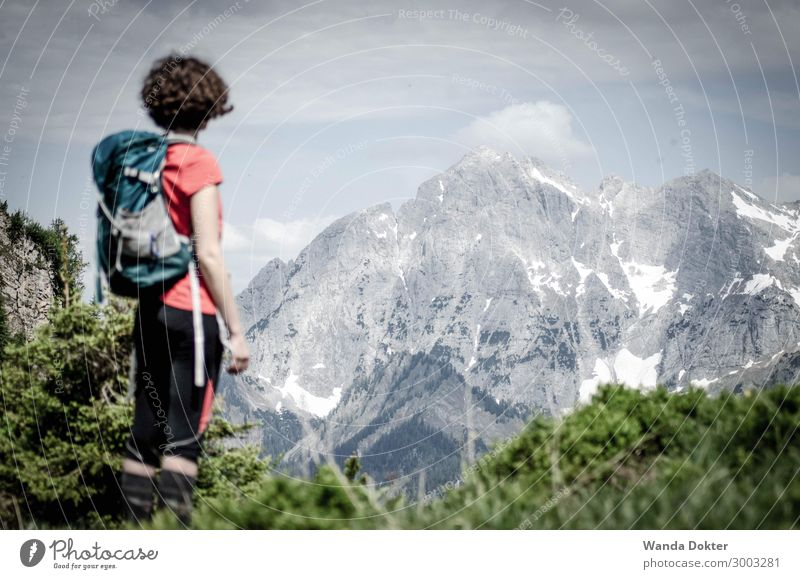 Stunning Mountain View Nature Youth (Young adults) Young woman Landscape Relaxation Calm Healthy Lanes & trails Feminine Snow Happy Rock Leisure and hobbies