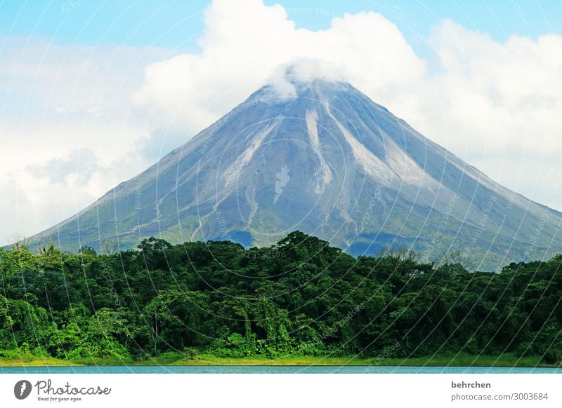 arenal | breathtaking volcano Sunlight Contrast Light Day Deserted Exterior shot Colour photo Lava field Eruption already Fantastic Exotic Exceptional