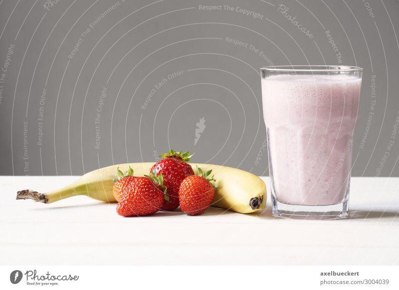 Smoothie Milkshake Strawberry Banana Food Fruit Nutrition Beverage Juice Lifestyle Healthy Healthy Eating Delicious Pink Red Vitamin C Snack Horizontal