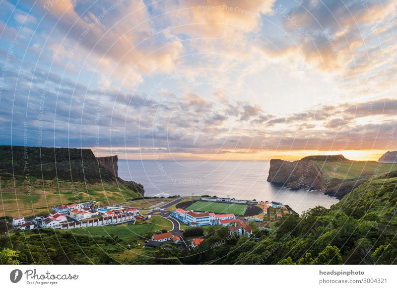 Football field by the sea at sunset, Azores Fitness Leisure and hobbies Vacation & Travel Tourism Trip Sightseeing Sports Ball sports Sporting Complex